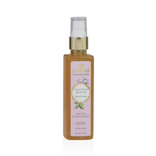(Option 1) Just Herbs Sacred Lotus-Green Tea Skin Recovery Tone (100 ml) (All Skin Types)