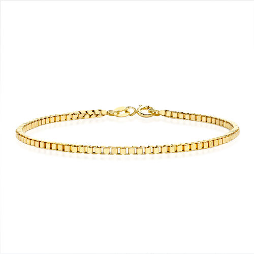 Close Out Deal 9K Yellow Gold Box Chain Bracelet (Size 7.5)