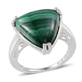 Malachite (Trl) Solitaire Ring in Sterling Silver 8.000 Ct.