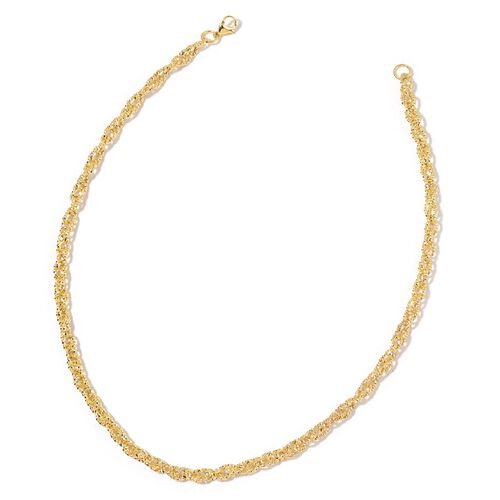 Prince of Wales Necklace (Size 20) and Bracelet (Size 7.5 with 1 inch Extender) in Yellow Gold Tone