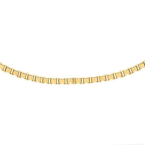 Vicenza Collection ILIANA 18K Yellow Gold Box Chain Size 20 Inch, 5.80 Gms.