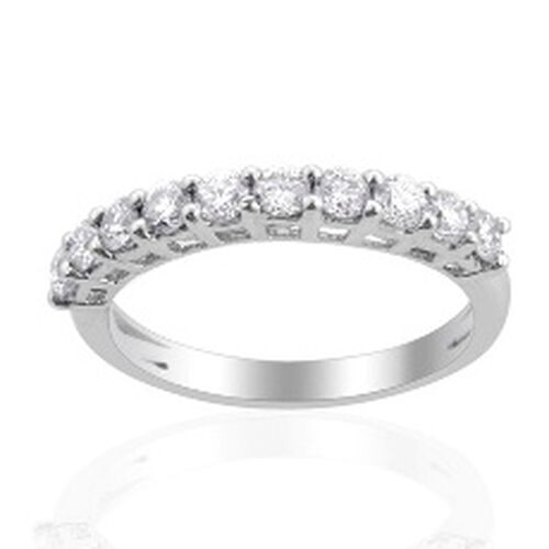 RHAPSODY 950 IGI Certified Diamond (Rnd) (VS/E-F) Ring in Platinum  0.75 Ct.