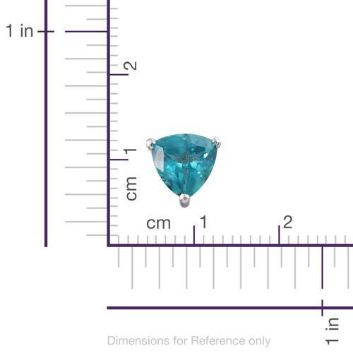 Paraiba Topaz (Trl) Stud Earrings (with Push Back) in Sterling Silver 2.750 Ct.
