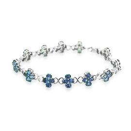 Tanzanite (Ovl) Bracelet in Sterling Silver (Size 7.5) 14.960 Ct.