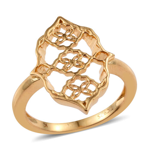 Kimberley Crimson Spice Collection 14K Gold Overlay Sterling Silver Ring, Silver wt 3.50 Gms.