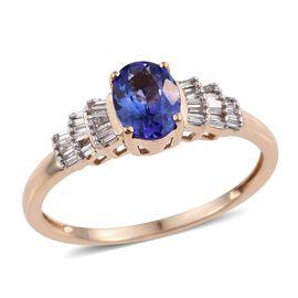 14K Y Gold Tanzanite (Ovl 1.00 Ct), Diamond Ring 1.250 Ct.