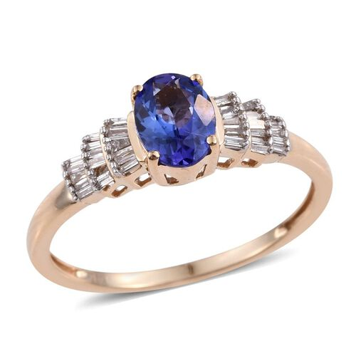 14K Y Gold Tanzanite (Ovl 1.00 Ct), Diamond Ring 1.250 Ct.