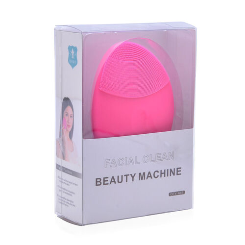 Pink Colour Silicone Face Cleansing Brush (Size 10x8 Cm)