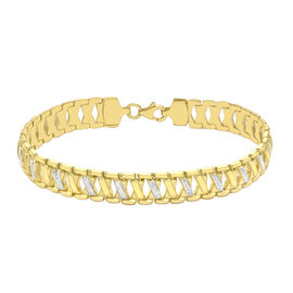Close Out Deal 9K Yellow and White Gold Diamond Cut Bracelet (Size 7.5), Gold wt 7.30 Gms.
