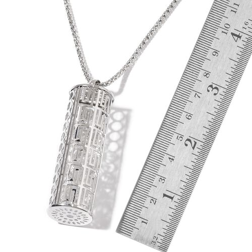 AAA White Austrian Crystal Pendant With Chain in Silver Tone