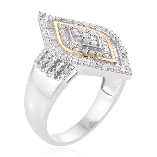 Diamond Sterling Silver Ring  1.010  Ct.