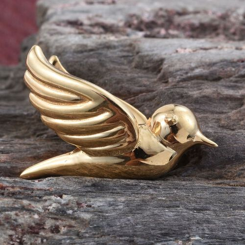 Silver Flying Bird Pendant in Gold Overlay, Silver wt. 3.31 Gms.