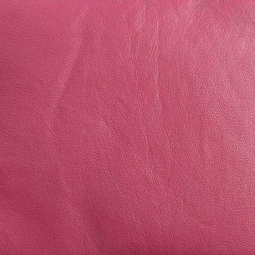 Genuine Leather RFID Blocker Fuchsia Pink Colour Ladies Wallet (Size 12x11x2 Cm)