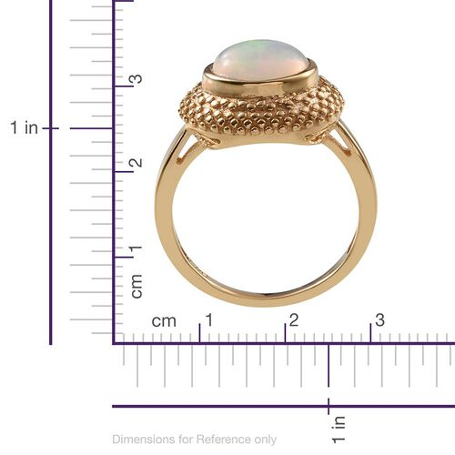 Ethiopian Welo Opal (Ovl) Solitaire Ring in 14K Gold Overlay Sterling Silver 1.500 Ct.