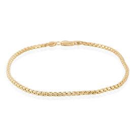 Royal Bali Collection 9K Y Gold Box Bracelet (Size 7.5) 1.45 Grams of Gold
