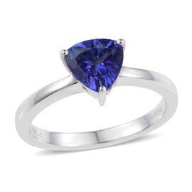 RHAPSODY 950 Platinum AAAA Tanzanite (Trl) Solitaire Ring 1.250 Ct.