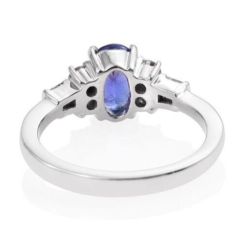 RHAPSODY 950 Platinum 2 Carat AAAA Tanzanite Oval, Diamond SI G-H Ring.