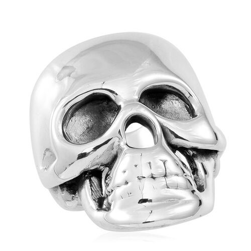 Thai Statement Collection Sterling Silver Skull Ring, Silver wt 7.10 Gms.