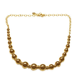 Italian Design 9K Y Gold Graduated Bead Necklace (Size 18 with 2 inch Extender), Gold wt 13.86 Gms.