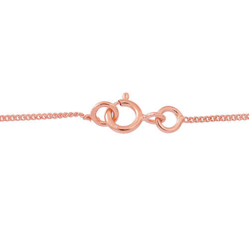 ELANZA AAA Simulated White Diamond (Bgt) Necklace (Size 16) in 14K Rose Gold Overlay Sterling Silver