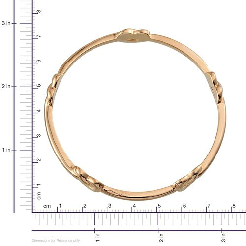 ION Plated 18K Yellow Gold Bond Knot Bangle (Size 7.5)