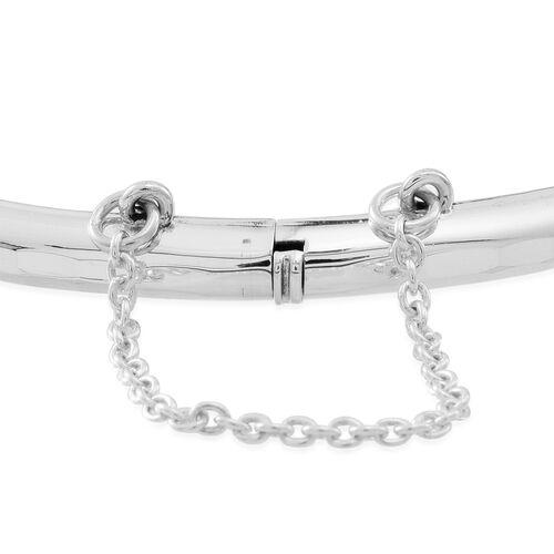 JCK Vegas Collection Sterling Silver Diamond Cut Bar Bangle (Size 8), Silver wt 8.51 Gms.