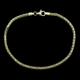 JCK Vegas Collection ILIANA 18K Yellow Gold Fox Tail Chain Bracelet 2.98 Grams (Size 7.5)