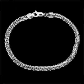 JCK Vegas Collection 9K W Gold Tulang Naga Bracelet (Size 7.5), Gold wt 4.44 Gms.