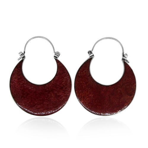 Royal Bali Collection Sponge Coral Earrings in Sterling Silver 11.000 Ct.