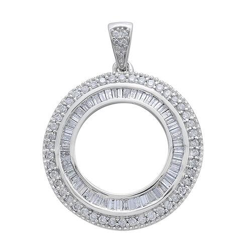 9K W Gold SGL Certified Diamond (Bgt) (G-H/I3) Circle of Life Pendant 1.000 Ct. 3.30 Grams of 9k White Gold