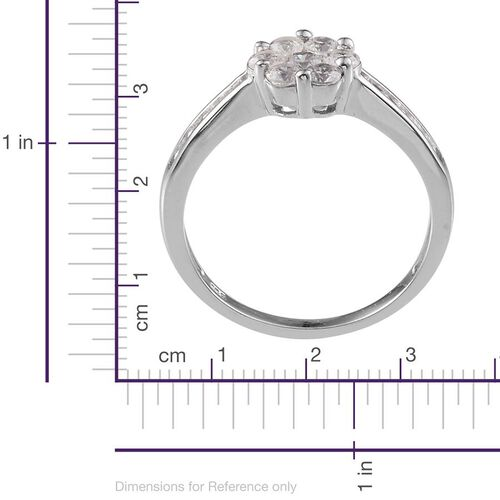 J Francis - Platinum Overlay Sterling Silver (Rnd) Ring Made With SWAROVSKI ZIRCONIA 1.056 Ct.