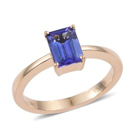 ILIANA 18K Y Gold AAA Tanzanite (Oct) Solitaire Ring 1.600 Ct.