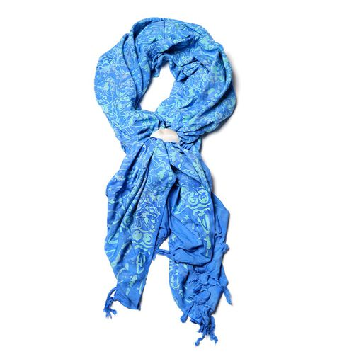 Royal Blue Rayon Ladies Scarf
