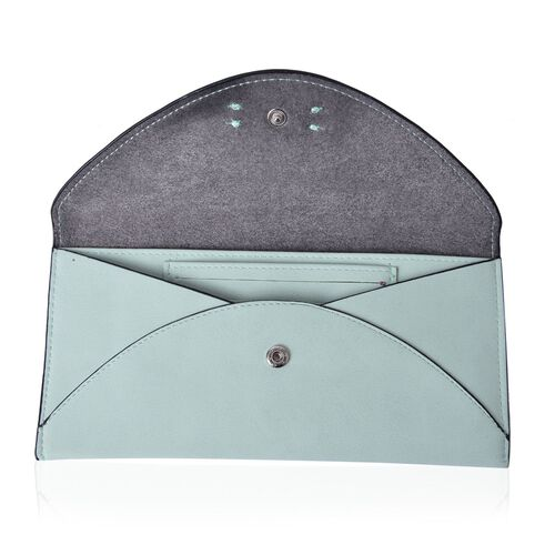 Set of 2 - TJC Envelope Design Pastel Green Colour and Croc Embossed Purple Colour Wallet (Size 20.5x10 Cm and 20x10 Cm)