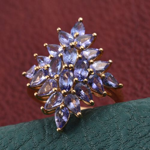 Tanzanite (Ovl) Ring in 14K Gold Overlay Sterling Silver 4.500 Ct.