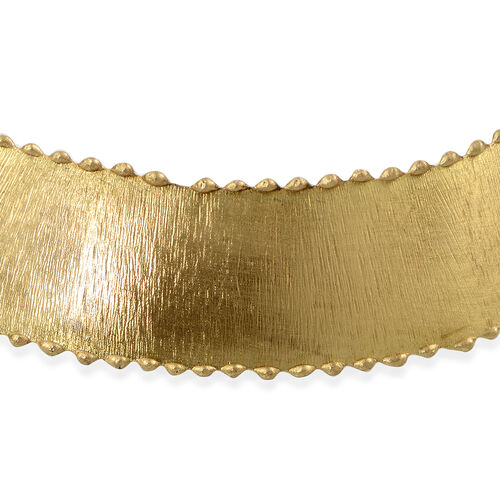 Gold Plated Statement Choker Necklace and Bangle