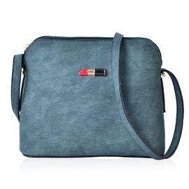 Lipstick Design Teal Green Colour Handbag (22x18x8.5 Cm)