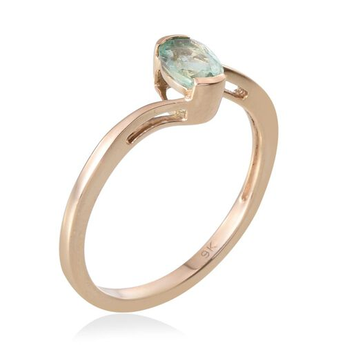 9K Y Gold Boyaca Colombian Emerald (Ovl) Solitaire Ring 0.750 Ct.