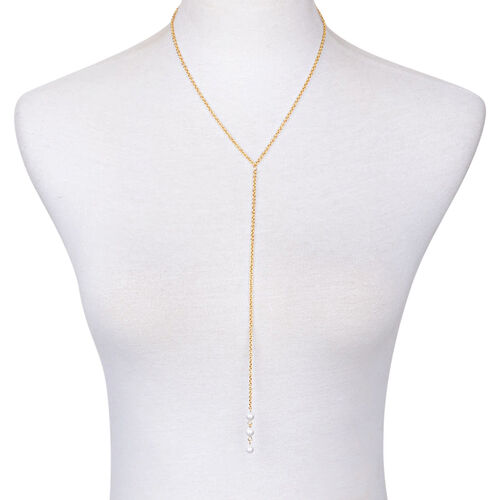Simulated Pearl Necklace (Size 18) in Stainless Steel