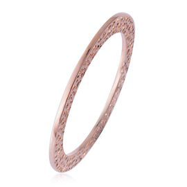DOD - (Option 1) RACHEL GALLEY Rose Gold Overlay Sterling Silver Enkai Sun Bangle (Size 8), Silver wt 35.60 Gms.
