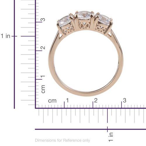 9K Y Gold (Rnd) Trilogy Ring Made with SWAROVSKI ZIRCONIA