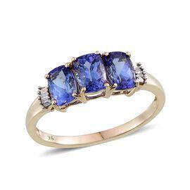 9K Y Gold Tanzanite (Cush), Diamond Ring 2.250 Ct.