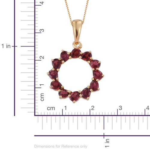 Mahenge Spinel (Pear) Circle of Life Pendant With Chain in 14K Gold Overlay Sterling Silver 2.250 Ct.