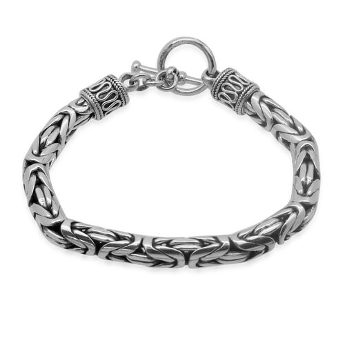 Royal Bali Collection Sterling Silver Borobudur Bracelet (Size 7.5), Silver wt 44.76 Gms.