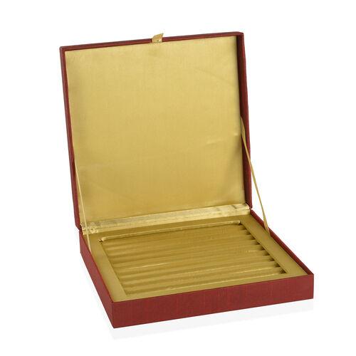 Zardosi Hand Embroidered Maroon Colour 100 Slot Ring Box (Size 25.5X25.5X6 Cm)