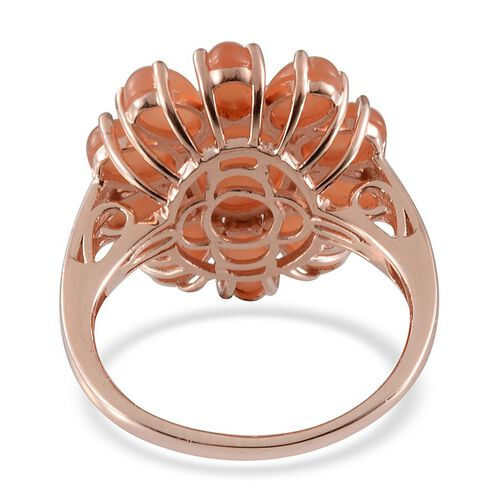 Mitiyagoda Peach Moonstone (Ovl 2.25 Ct) Ring in Rose Gold Overlay Sterling Silver 6.500 Ct.