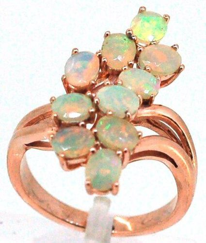 Ethiopian Welo Opal (Ovl) Ring in 14K Rose Gold Overlay Sterling Silver 2.250 Ct.