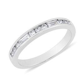 RHAPSODY 950 Platinum 0.50 Carat Diamond Half Eternity Ring IGI Certified VS F