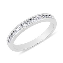 RHAPSODY 950 Platinum 0.50 Carat Diamond Half Eternity Ring IGI Certified VS F