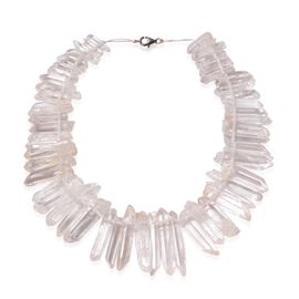 White Quartz Necklace (Size 18) in Sterling Silver 190.290 Ct.